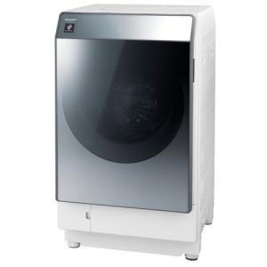 シャープ ES-W112-SL ドラム式洗濯乾燥機 (洗濯11.0kg/乾燥6.0kg・左開き) シルバー系|yamada-denki
