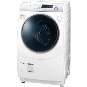 シャープ ES-H10D-WL ドラム式洗濯乾燥機 (洗濯10.0kg/乾燥6.0kg・左開き) ホワイト系|yamada-denki