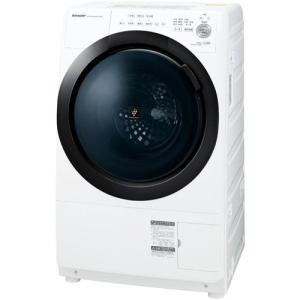 【無料長期保証】シャープ ES-S7E-WL ドラム式プラズマクラスター洗濯乾燥機 (洗濯7kg/乾...