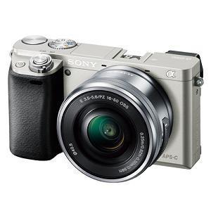 ソニー ILCE-6000L-S デジタル一眼カメラ α6000 パワーズームレンズキット (シルバ...