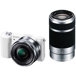 ソニー ILCE-5100Y-W デジタル一眼カメラ α5100 ダブルズームレンズキット (ホワイ...