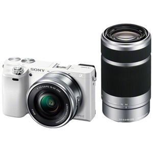 ソニー ILCE-6000Y-W デジタル一眼カメラ α6000 ダブルズームレンズキット (ホワイ...