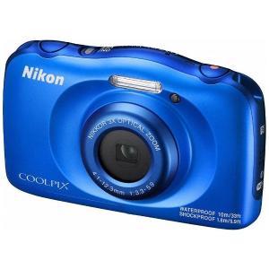 ニコン W100BL コンパクトデジタルカメラ COOLPIX(クールピクス) 「W100」(ブルー)|yamada-denki