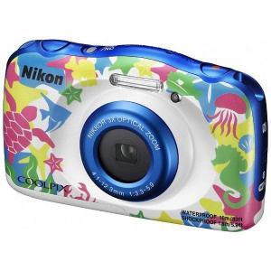 ニコン W100MR コンパクトデジタルカメラ COOLPIX(クールピクス) 「W100」(マリン)|yamada-denki