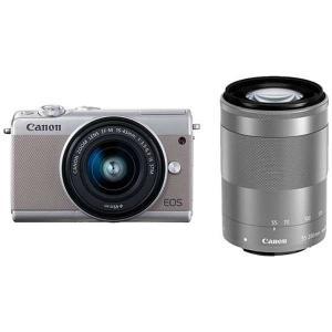 キヤノン EOSM100GY-WZK ミラーレス一眼カメラ 「EOS M100」 ダブルズームキット...