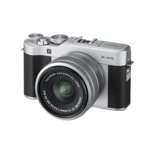 富士フイルム XA5LKITS ミラーレス一眼カメラ FUJIFILM X-A5 レンズキット シル...
