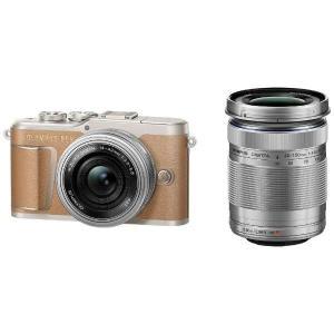 オリンパス EPL9-WKIT-BRW デジタル一眼カメラ「OLYMPUS PEN E-PL9」EZ...