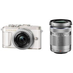 オリンパス EPL9-WKIT-WHT デジタル一眼カメラ「OLYMPUS PEN E-PL9」EZダブルズームキット ホワイト|yamada-denki