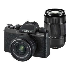 富士フイルム XT100-WZLKITB ミラーレス一眼カメラ 「X-T100」ダブルズームレンズキ...