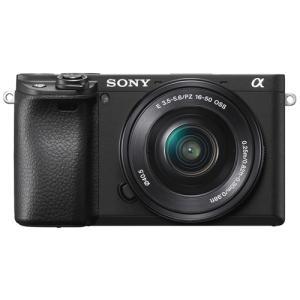 ソニー ILCE-6400LB デジタル一眼カメラ パワーズームレンズキット ブラック