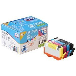 ジット JIT-H1784P リサイクルインクカートリッジ(HP178対応・4色マルチパック)&lt...