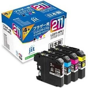 ジット JIT-B2114P ブラザー: LC211-4PK リサイクルインクカートリッジ(4色セッ...