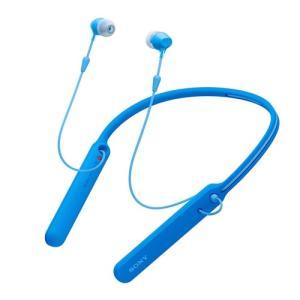 ソニー WI-C400-L ワイヤレスステレオヘッドセット ブルー|yamada-denki