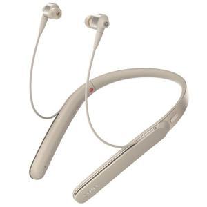 ソニー WI-1000X-N 【ハイレゾ音源対応】 Bluetooth対応 ハイブリッド密閉型イヤホン (シャンパンゴールド)|yamada-denki