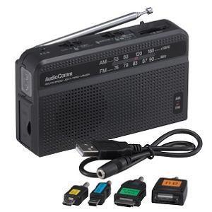 オーム電機 RAD-V945N スマートフォン対応 手回しラジオライト