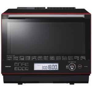 東芝 ER-SD3000-R 過熱水蒸気オーブンレンジ 「石窯ドーム」 30L グランレッド<...