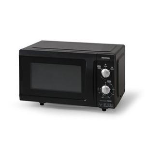 アイリスオーヤマ EMO-F518-6 電子レンジ 18L フラットテーブル 60Hz ブラック|yamada-denki