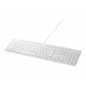 バッファロー BSKBM01WH USB接続 有線キーボード Macモデル ホワイト
