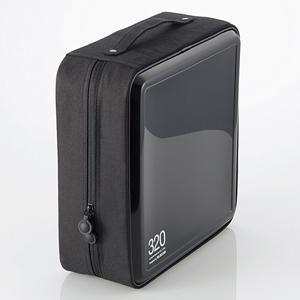 エレコム CCD-H320BK CD/DVDファスナーケース(320枚収納) ブラック|yamada-denki