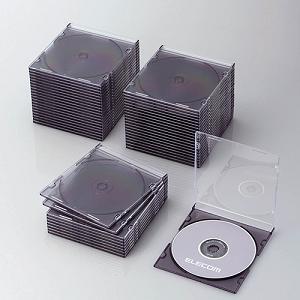 エレコム CCD-JSCS50CBK Blu-ray/DVD/CDケース(スリム/PS/1枚収納) クリアブラック|yamada-denki