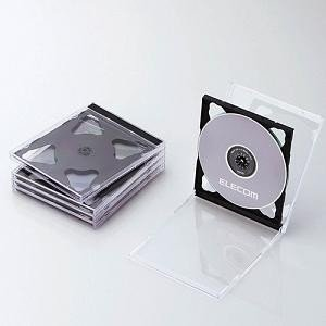 エレコム CCD-JSCNW5BK Blu-ray/DVD/CDケース(標準/PS/2枚収納/5パック) ブラック|yamada-denki