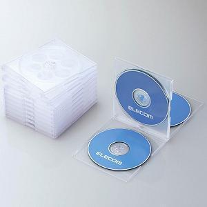 エレコム CCD-JSCNQ5CR Blu-ray/DVD/CDケース(標準/PS/4枚収納/5パック) クリア|yamada-denki