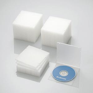 エレコム CCD-JPCS50CR Blu-ray/DVD/CDケース(スリム/PP/1枚収納/50パック) クリア|yamada-denki