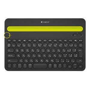 ロジクール K480BK マルチデバイス対応Bluetoothキーボード (ブラック)
