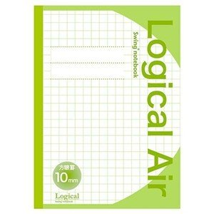 ナカバヤシ HB5-H101-G ロジカルエアー(軽量ノート)B5 方眼10ミリ グリーン|yamada-denki