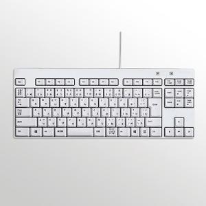 エレコム TK-FCM084WH コンパクト有線キーボード ホワイト