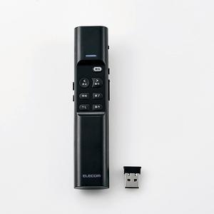 エレコム ELP-RL08PMBK マウス操作機能搭載赤色レーザープレゼンター|yamada-denki