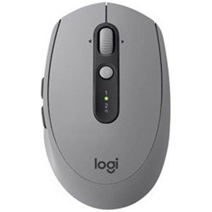 ロジクール(Logicool) M590MG (7ボタン・ミッドグレイトーナル) ワイヤレスレーザーマウス Bluetooth/2.4GHz USB MULTI-DEVICE サイレントマウス|yamada-denki