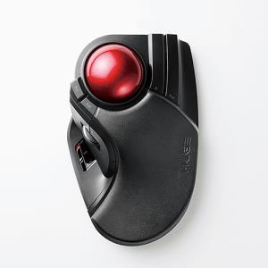 エレコム M-HT1DRBK ワイヤレストラックボール(人差し指・中指操作タイプ) ブラック