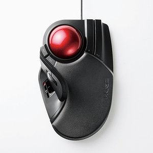 エレコム M-HT1URBK トラックボール(人差し指・中指操作タイプ) ブラック