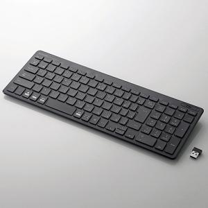 エレコム TK-FDP099TBK 無線薄型コンパクトキーボード ブラック