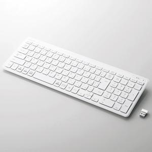エレコム TK-FDP099TWH 無線薄型コンパクトキーボード ホワイト<br>131