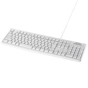 バッファロー BSKBU100WH USB接続 有線スタンダードキーボード ホワイト<br&g...
