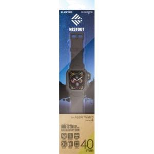 エレコム AW-40BCNESTBK Apple Watch用バンドケース(series 4/40mm)ブラック|yamada-denki