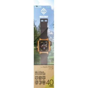 エレコム AW-40BCNESTDR Apple Watch用バンドケース(series 4/40mm)オレンジ|yamada-denki