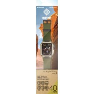 エレコム AW-40BCNESTKH Apple Watch用バンドケース(series 4/40mm)カーキ|yamada-denki