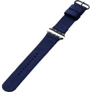 エレコム AW-40BDNATBU Apple Watch 40/38mm ファブリックバンド ブルー yamada-denki