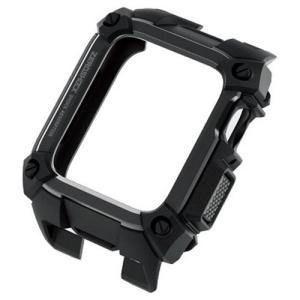 エレコム AW-40ZEROBK Apple Watch 40mm ZEROSHOCKケース ブラック|yamada-denki