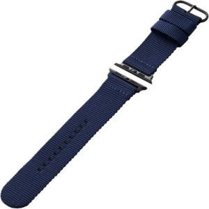エレコム AW-44BDNATBU Apple Watch 44/42mm ファブリックバンド ブルー yamada-denki