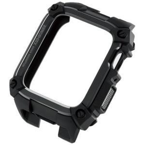 エレコム AW-44ZEROBK Apple Watch 44mm ZEROSHOCKケース ブラック|yamada-denki