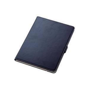 エレコム TB-A19R360NV iPad 10.2 2019年モデル/フラップケース/ソフトレザ...