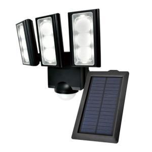 ELPA SL-313SL 屋外用LEDセンサーライト ソーラー式 3灯 白色/ソーラー式