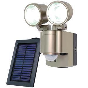 朝日電器/ELPA  LED防雨センサーライト 2灯 (ソーラー発電式) ESL-302SL|yamada-denki
