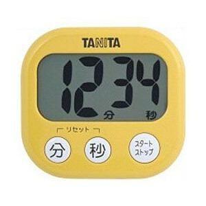 TANITA(タニタ)TD-384-MY デジタルタイマー でか見えタイマー(マンゴーイエロー) yamada-denki