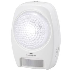 オーム電機 BO-LS20A5 LEDセンサープッシュライト 人感・明暗 白色LED yamada-denki