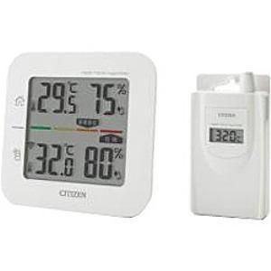 シチズン CITIZEN コードレス温湿時計(簡易熱中症指標表示付き)  THD501 yamada-denki